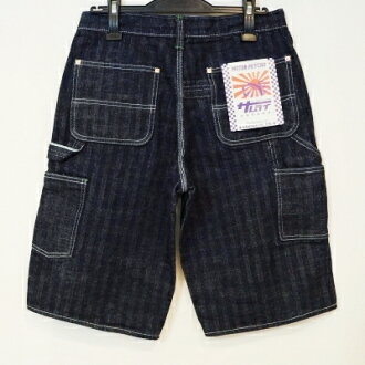 SM155DX-P- herringbone painter short pants-SM155DXP-SAMURAIJEANS-samurai jeans denim jeans samurai car club denim jeans - half underwear - shorts