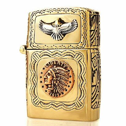 \アフターSALE!/【 送料無料!】 so0532 ZIPPO ジッポ ライター インディアンヘッドマーク ZIPPO(ジッポ)ライター オールドコイン インディアンヘッド イーグル ゴールド