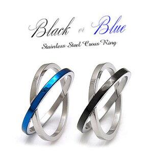メール便なら送料無料! sr0092 気負わず指元に重ね付け メンズアクセサリー メンズ リング ステンレスアクセサリー 指輪 ブルー・青 ブラック・黒 金属アレルギー対応