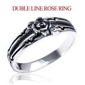 メール便なら送料無料! r0678 オトコの為の薔薇モチーフリング! シルバーアクセサリー リング・指輪 メンズ バラ・薔薇