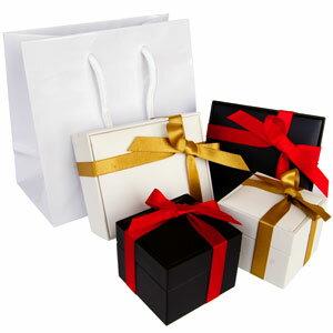 【ギフトボックス】【プレゼント】◆so0000●有料ラッピング■リボンを巻いた光沢のあるボックスに手提げ袋付き