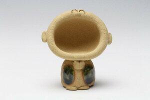 笑い地蔵 ペーパーウェイト(大) 日本製 美濃焼 ベージュ 手作り 置物 オブジェ レトロ 和モダン 和風 和室 和テイスト 飾り物 置き物 ミニチュア かわいい おしゃれ 国産 小さめ 小ぶり 小