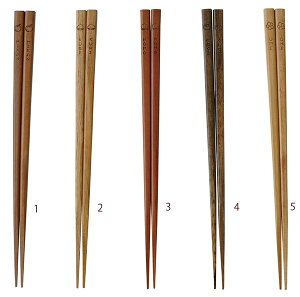 天然木箸 実のなる木箸 みかん くり もも かき うめ キッチン かわいい 木製 お箸