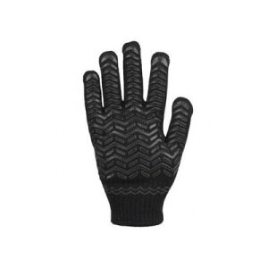 勝星産業 ゴムライナーブラック 薄手タイプ サイズ:L #001L 手袋 滑りにくい すべり止め 作業用手袋 ゴム手袋 現場作業