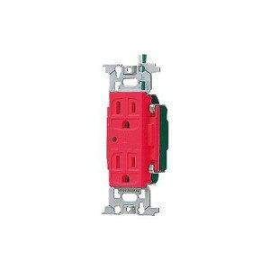 パナソニック フルカラー 医用接地ダブルコンセント 通電表示ランプ付 赤 15A 125V WN13185RK