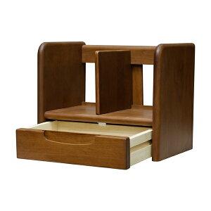 送料無料ブックスタンド単品幅35cmナチュラルブラウン木製卓上引き出しデスク上オフィスリビング書斎ブックシェルフ本立て本棚ラックブックエンドおしゃれ北欧モダンシンプルミッドセンチュリー