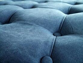 完成品 オットマン ロビー 待合室 大きい 大型 腰掛け 幅100cm スツール キッシュ ブルー おしゃれ エントランス シンプル ミッドセンチュリー