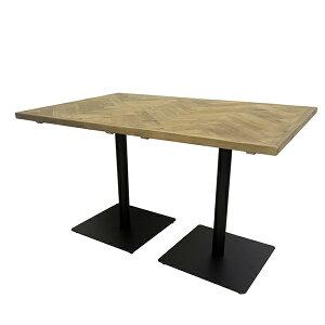 古材 カフェテーブル ヘリンボーン 幅120cm テーブル コーヒーテーブル ダイニングテーブル 木製 机 作業台 アンティーク ブルックリン インダストリアル 西海岸 男前インテリア おしゃれ