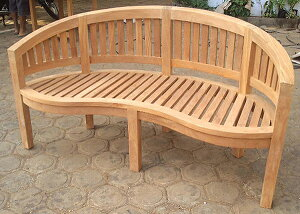 バナナベンチ 木製 ガーデンチェアー ガーデンベンチ 長椅子 イス チェア チェアー 椅子 おしゃれ アンティーク モダン レトロ