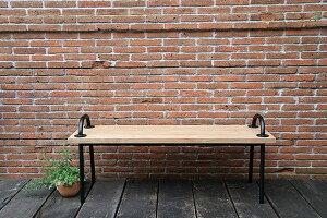 グリップベンチ アイアン 木製 ガーデンチェアー ガーデンベンチ 長椅子 イス チェア チェアー 椅子 おしゃれ アンティーク モダン レトロ