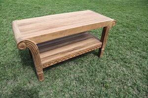グランドテーブル 単品 チーク 木製 ガーデンテーブル 机 テラス カフェ アウトドア おしゃれ モダン