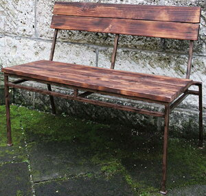 スクラップベンチ 木製 ガーデンチェアー ガーデンベンチ 長椅子 イス チェア チェアー 椅子 おしゃれ アンティーク モダン レトロ