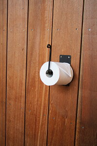 トイレットペーパーホルダー シングル アイアン アンティーク ブラック ペーパー ホルダー トイレ 収納 おしゃれ 高級感 モダン レトロ