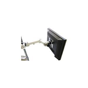 サンコ- 4軸式クリップモニタア?ム(ホワイト) メタルラックを使われている方にお勧めのモニターアーム 省スペース ディスプレイアーム