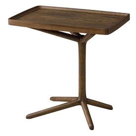 完成品 サイドテーブル 幅54cm 木製 スリム コンパクト ナイトテーブル ベッドサイドテーブル ソファーサイドテーブル レトロ モダン 北欧 ブルックリン 西海岸 男前 インテリア おしゃれ アンティーク ブラウン
