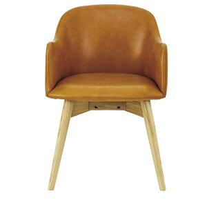 ダイニングチェアレザー天然木木製食卓チェアー食卓椅子いすイス椅子ダイニングチェアーレトロモダン北欧ブルックリン西海岸男前インテリアおしゃれシンプルアンティークカントリーかわいい高級感キャメル