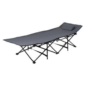 サンシャインベッド 枕付き レジャーベッド キャンピングベッド アウトドア 屋外 レジャー キャンプ BBQ 簡易ベッド 簡易ベット 折りたたみ おしゃれ グリーン