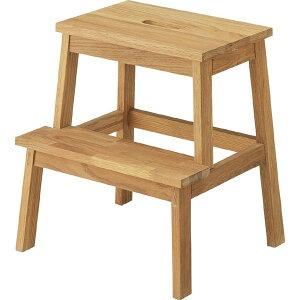 ステップ台 スツール 踏み台 昇降運動 おしゃれ 2段 シンプル 台 階段 引越し 天然木 木製