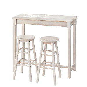 カウンターテーブルセット スツール付き 幅95cm 高さ85cm 木製 ハイテーブル カフェテーブル バーカウンター テーブル 作業台 つくえ 机 レトロ モダン 北欧 ブルックリン 西海岸 男前 インテ