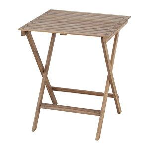 折りたたみテーブル 幅60cm 木製 天然木 アカシア ガーデンテーブル フォールディングテーブル アウトドア キャンプ ガーデンファニチャー カフェ オープンテラス バルコニー テラス 庭 ベラ