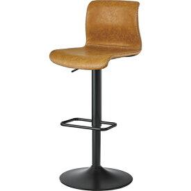 ハイチェア カウンターチェア バーチェアー 回転式 イス 椅子 チェアー レザー レトロ モダン 北欧 ブルックリン 西海岸 男前 インテリア おしゃれ シンプル アンティーク 高級感 キャメル