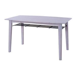 ダイニングテーブル 単品 4人用 4人掛け テーブル 幅130cm 棚付き アイアン 北欧 シンプル ダイニング テーブル 天然木 木目 木製 おしゃれ 机 つくえ 食卓机 作業台 食卓テーブル リビングテー