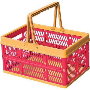 収納ボックス プラスチック フォールディングボックス 折りたたみ 折り畳み 取っ手付き 野外 スタッキング ランドリーボックス 洗濯かご おもちゃ箱 大容量 シンプル おしゃれ 北欧 ピンク