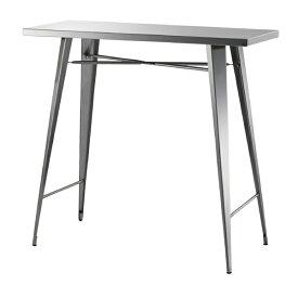 カウンターテーブル 幅105cm 高さ100cm ステンレス ハイテーブル カフェテーブル バーカウンター テーブル 作業台 つくえ 机 レトロ モダン 北欧 ブルックリン 西海岸 男前 インテリア おしゃれ アンティーク