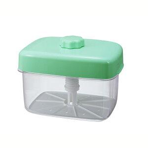 送料無料 トンボ 即席漬物器 マミー 角6型 グリーン