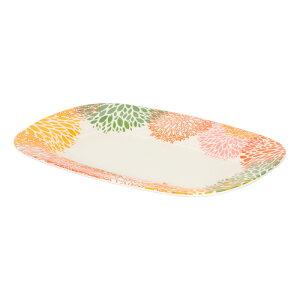 送料無料 6枚入り メラミンプレート レクタングル ホワイト/イエロー 皿 キッチン用品 食器 北欧 カフェ おしゃれ かわいい 贈り物