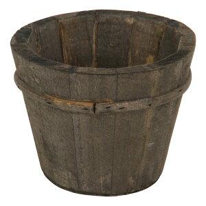 送料無料 12個入り 木製ガーデンポット 天然木 植木鉢 フラワーポット プランター 小物収納 鉢カバー ラウンド S ガーデン 雑貨 ホワイト おしゃれ かわいい デザイン ブラウン