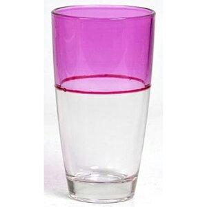 送料無料 6個入り コップ ガラス グラス ツートン M ピンク ガラスコップ おしゃれ ギフト 結婚祝い 内祝い お祝い 贈り物 プレゼント 誕生日