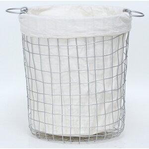 送料無料 4個セット ワイヤーバスケットラウンドM ランドリーバスケット 大容量 洗面所 脱衣かご 北欧 洗濯かご ランドリーボックス おもちゃ箱 小物入れ 収納ボックス スリム シンプル 西