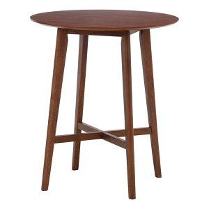 送料無料 ラウンドバーテーブル カフェテーブル ハイテーブル 木製 机 作業台 ダイニングテーブル おしゃれ かわいい 西海岸 男前インテリア 北欧 高級感 ミディアムブラウン