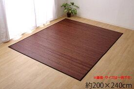 竹ラグ 竹カーペット 無地 竹芯使用 『ユニバース』 約200×240cm 糸なしタイプ