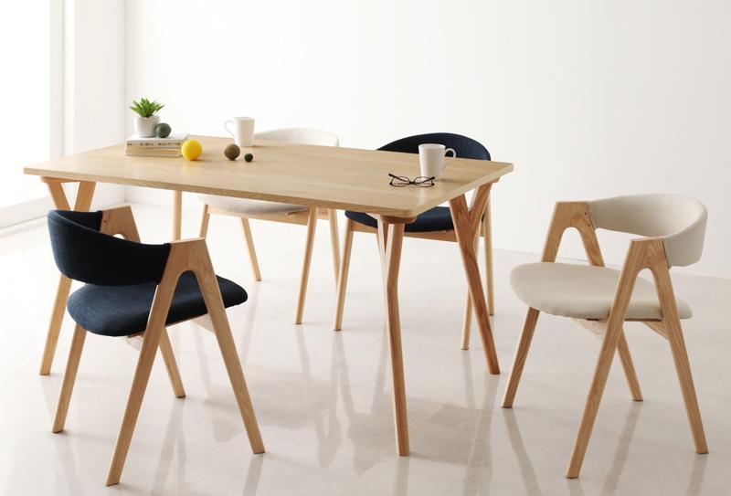 ダイニングテーブルセット ダイニングセット モダンインテリアダイニング 5点セットB テーブル(W140)×1、チェア×4 食卓テーブル 木製 4人【ULALU】ウラル 新生活 敬老の日 (送料無料) 040600435