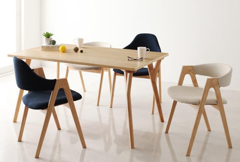 ダイニングテーブルセット ダイニングセット モダンインテリアダイニング 5点セットC テーブル(W140)×1、チェア×4 食卓テーブル 木製 4人【ULALU】ウラル 新生活 敬老の日 (送料無料) 040600436