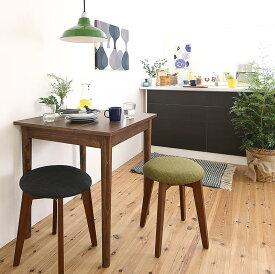 ダイニングセット 3点セット(テーブル W68 ブラウン +スツール2脚) 1Kでも置ける横幅68cmコンパクトダイニングセット idea イデア 木製 食卓 角型 アイボリー ブラウン ライトグレー ブルー レッド (送料無料) 500029625