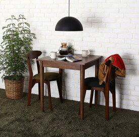 ダイニングセット 3点セット(テーブル ブラウン W68+チェア2脚) カフェ ヴィンテージ ダイニング Mumford マムフォード 木製 食卓 2人掛け ダークグレー グリーン (送料無料) 500029659