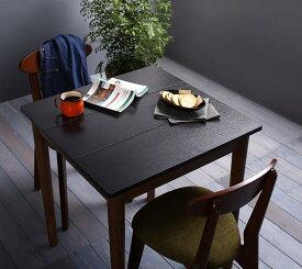 ダイニングセット 3点セット(テーブル ブラック×ブラウン W68+チェア2脚) カフェ ヴィンテージ ダイニング Mumford マムフォード 木製 食卓 2人掛け ダークグレー グリーン (送料無料) 500029666