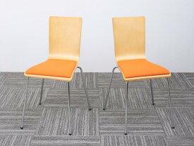 オフィスチェア 2脚組 CURAT キュレート 2脚セット スタッキングチェアー オフィスチェアー スタッキングチェア パソコンチェア 椅子 イス いす スチール ブラック オレンジ グリーン (送料無料) 500033552