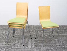 オフィスチェア 4脚組 CURAT キュレート 4脚セット スタッキングチェアー オフィスチェアー スタッキングチェア パソコンチェア 椅子 イス いす スチール ブラック オレンジ グリーン (送料無料) 500033553