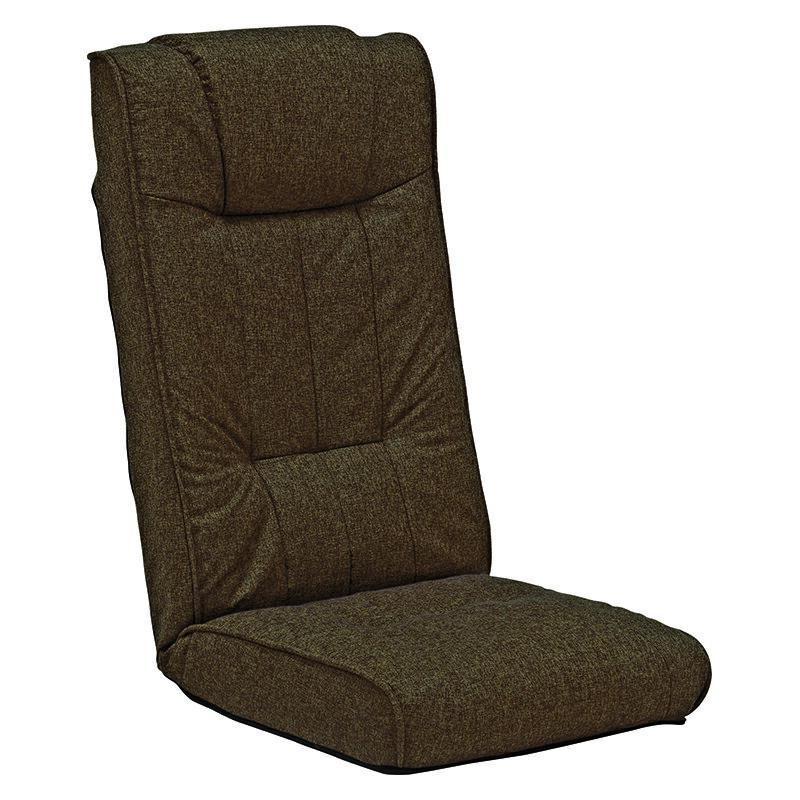 送料無料 リクライニング座椅子【4個セット】 ハイバック チェア 落着いた雰囲気 おしゃれ フロアチェア 和室 4点セット ブラウン【LZ-4266BR】