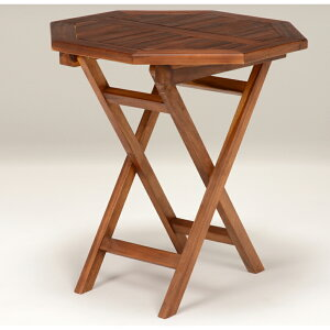 送料無料 ガーデンテーブル 八角テーブル 幅70cm 木製 チーク材 折り畳み 庭 アウトドア ガーデンファニチャー 折りたたみ カフェテーブル バルコニー ベランダ テラス ウッドデッキ 庭 屋外