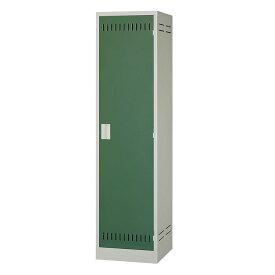 掃除用具ケース 片開き 錠無し NCP ニューグレー×ゴールドグリーン 完成品 新品 ALPS W455×D515×H1790