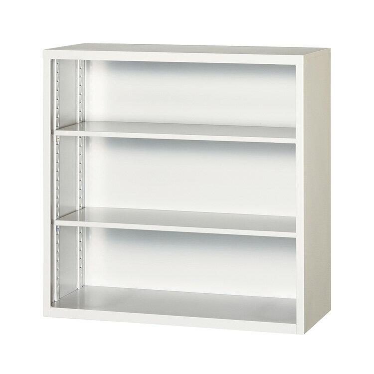 オープン書庫 スチール P303-AW 完成品 新品 アルプスホワイト アルプススチール W880×D400×H880