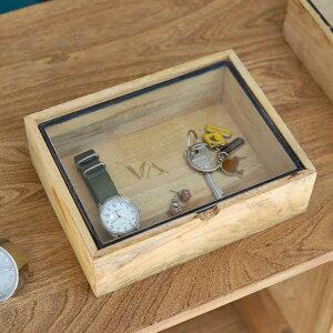 レクタングルウッデンボックスウィズグラスリッド スモール Rectangle Wooden Box With Glass Lid Small DETAIL ディテール