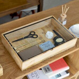 レクタングルウッデンボックスウィズグラスリッド ラージ Rectangle Wooden Box With Glass Lid Large DETAIL ディテール