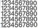 切文字/数字 規格品 H=30mm 0〜9各5面付/シート