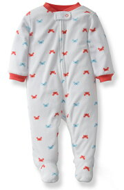 送料無料!Carter'sカーターズ2014春夏新作蟹ちゃんプリントパイル地足つきカバーオール